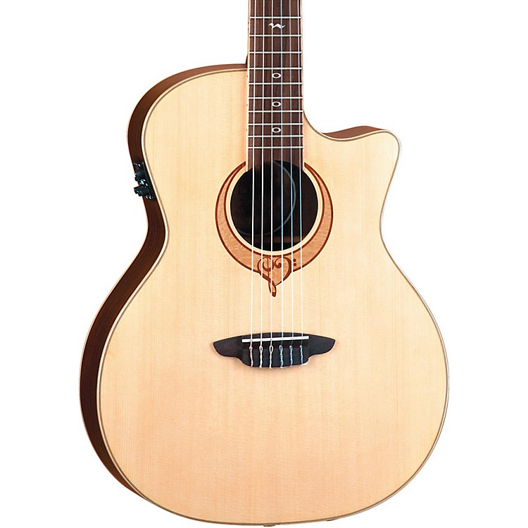 Luna Guitars Heartsong Nylon Acoustic Electric Guitar With USB Natural