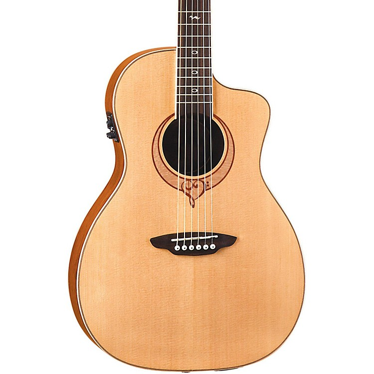 Luna Guitars Heartsong Parlor Acoustic Electric Guitar With USB Natural