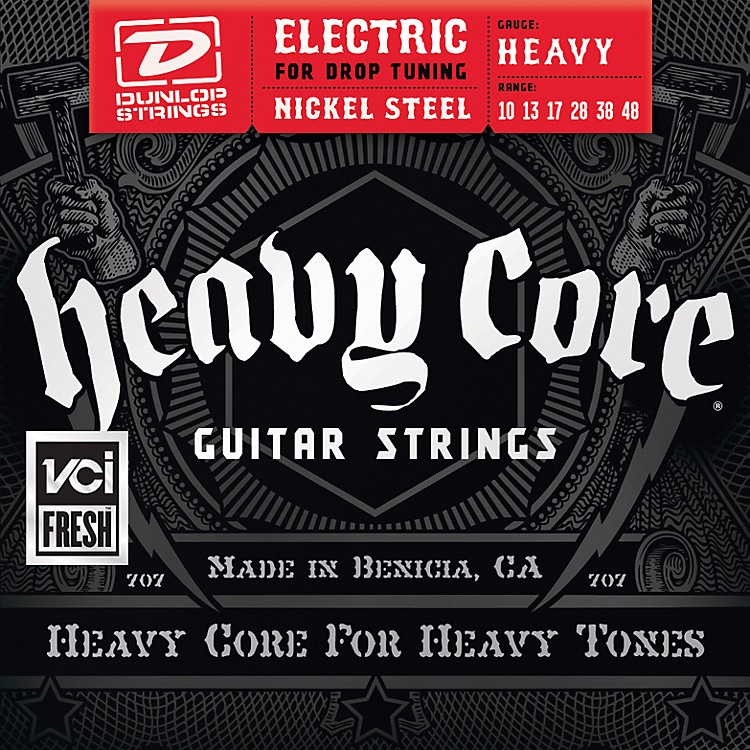Dunlop Heavy Core Electric Guitar Strings - Heavy Gauge