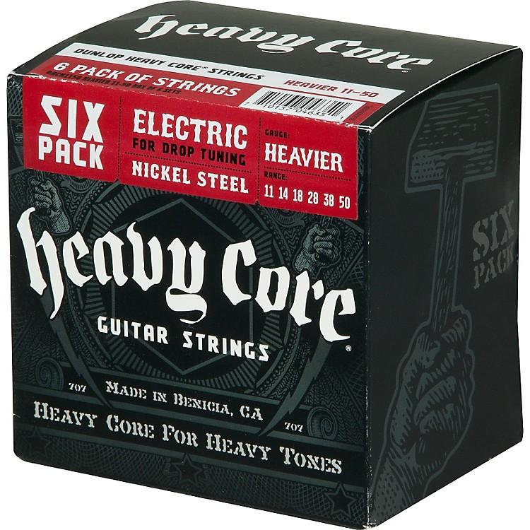 DunlopHeavy Core Electric Guitar Strings Heavier 6-Pack