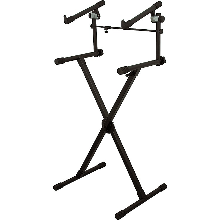 On-Stage StandsHeavy-Duty 2-Tier Keyboard X Stand