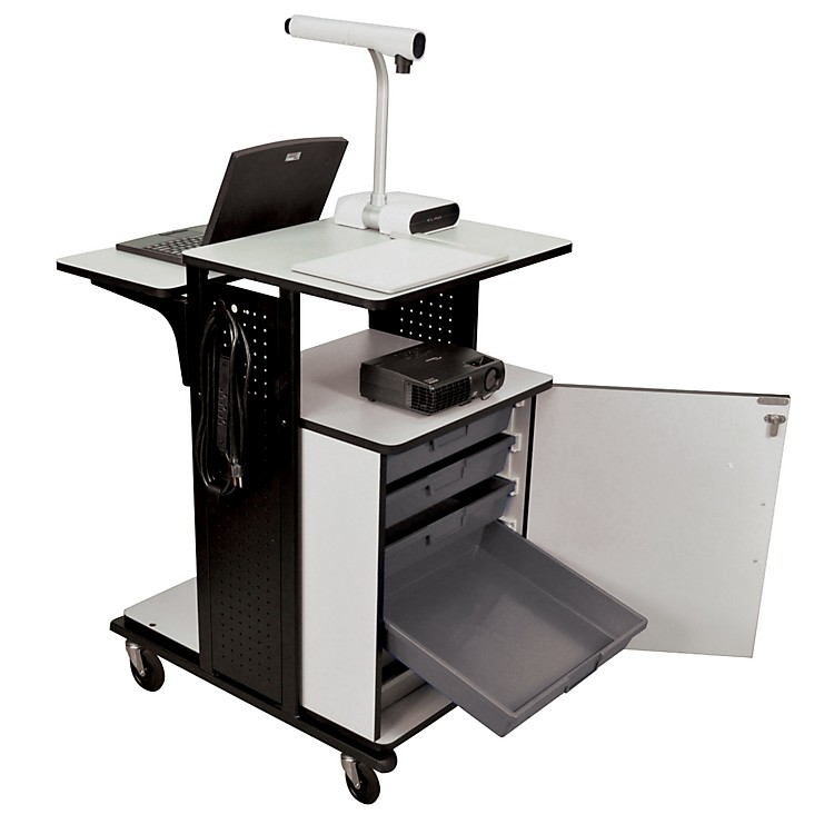 H. Wilson Heavy-Duty Presentation Station with Storage Trays