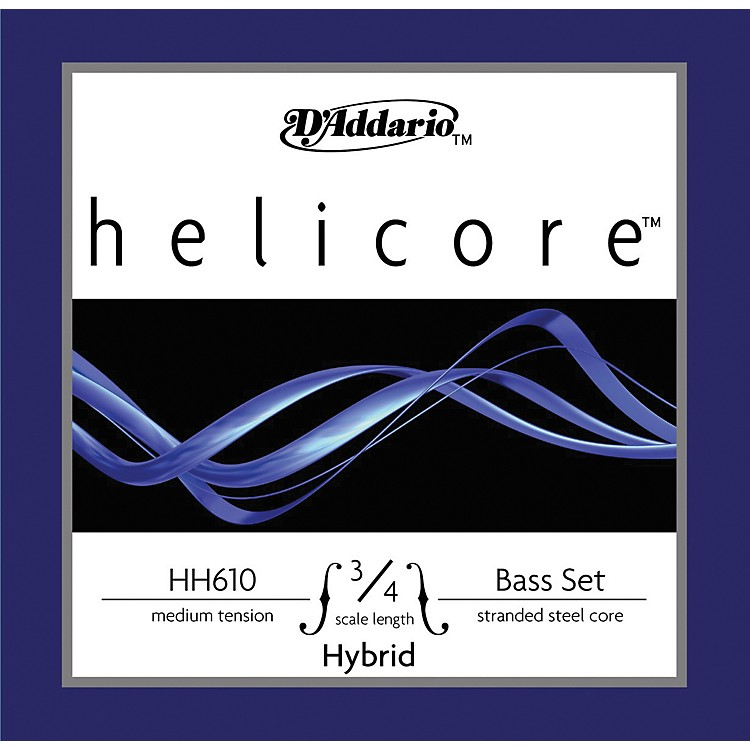 D'Addario Helicore Hybrid 3/4 Size Double Bass Strings 3/4 Size Set