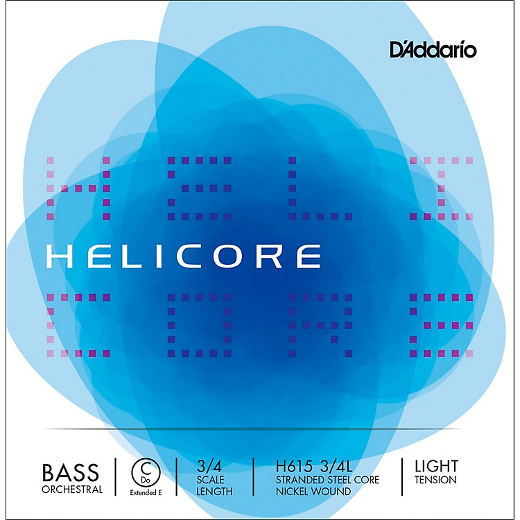 D'Addario Helicore Orchestral Series Double Bass C (Extended E String 3/4 Size Light