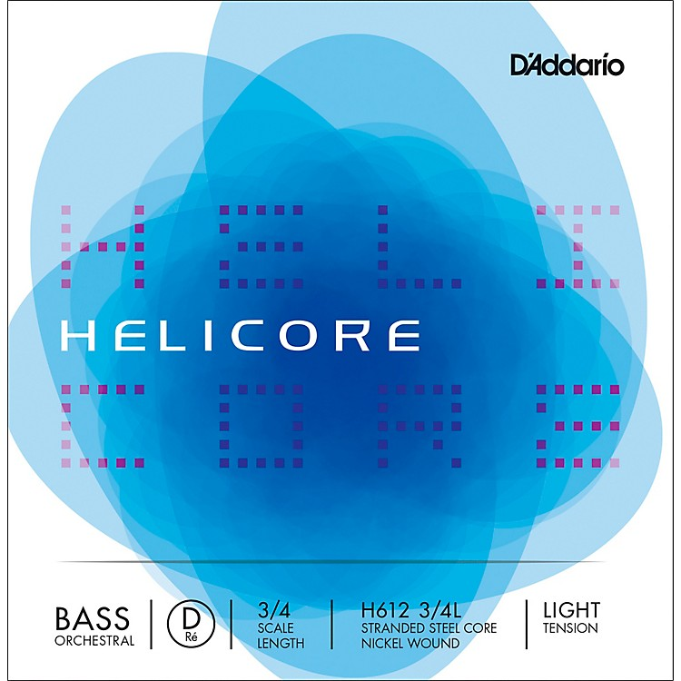 D'Addario Helicore Orchestral Series Double Bass D String 3/4 Size Light