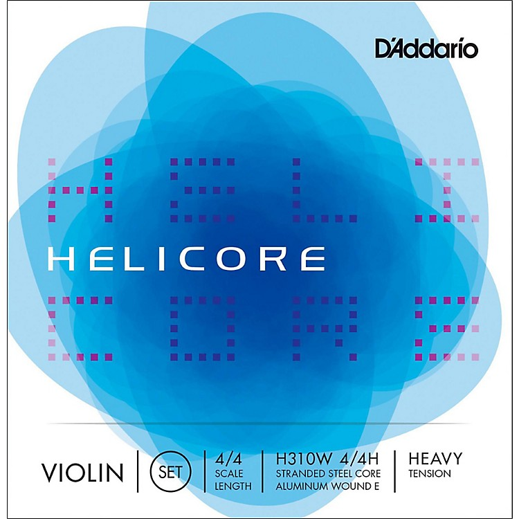 D'Addario Helicore Violin Set Strings 4/4 Size Heavy Wound E