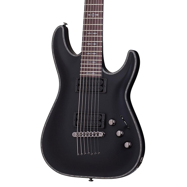 Schecter Guitar Research Hellraiser C-1 Passive 7-String Electric Guitar Satin Black