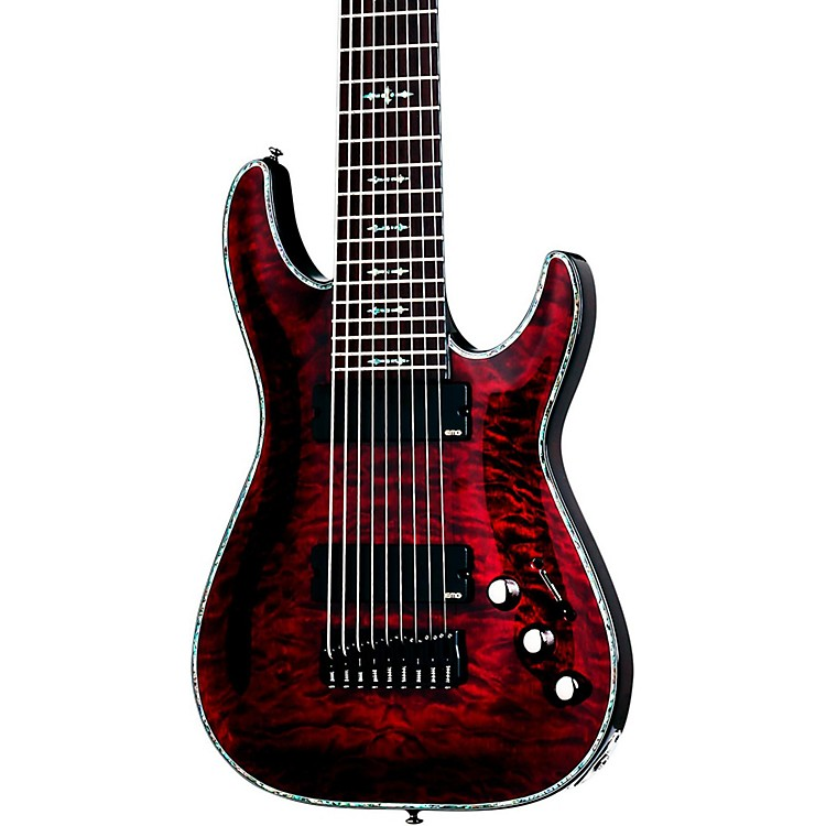 Schecter Guitar Research Hellraiser C-9 Electric Guitar Black Cherry