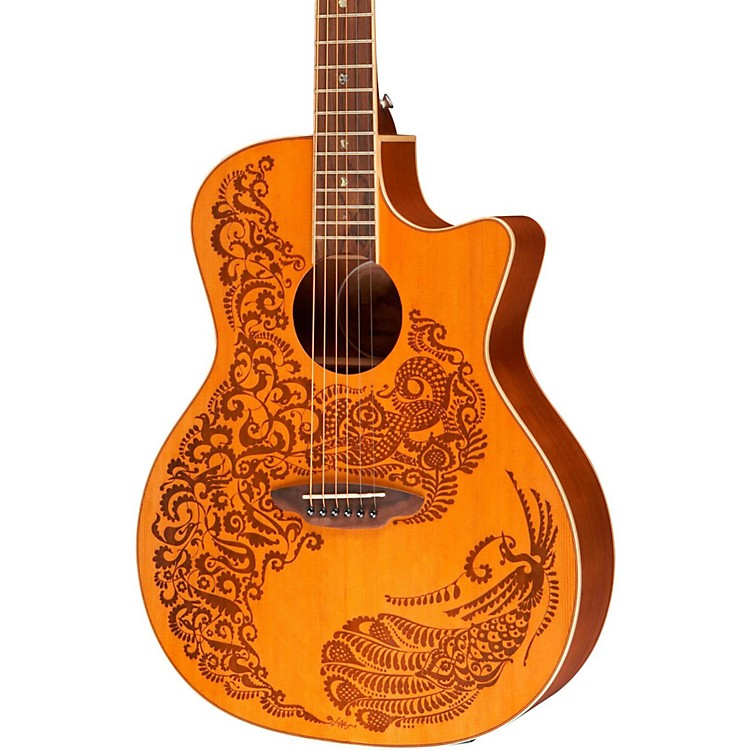 Luna Guitars Henna Paradise Cedar Series II Acoustic-Electric Guitar