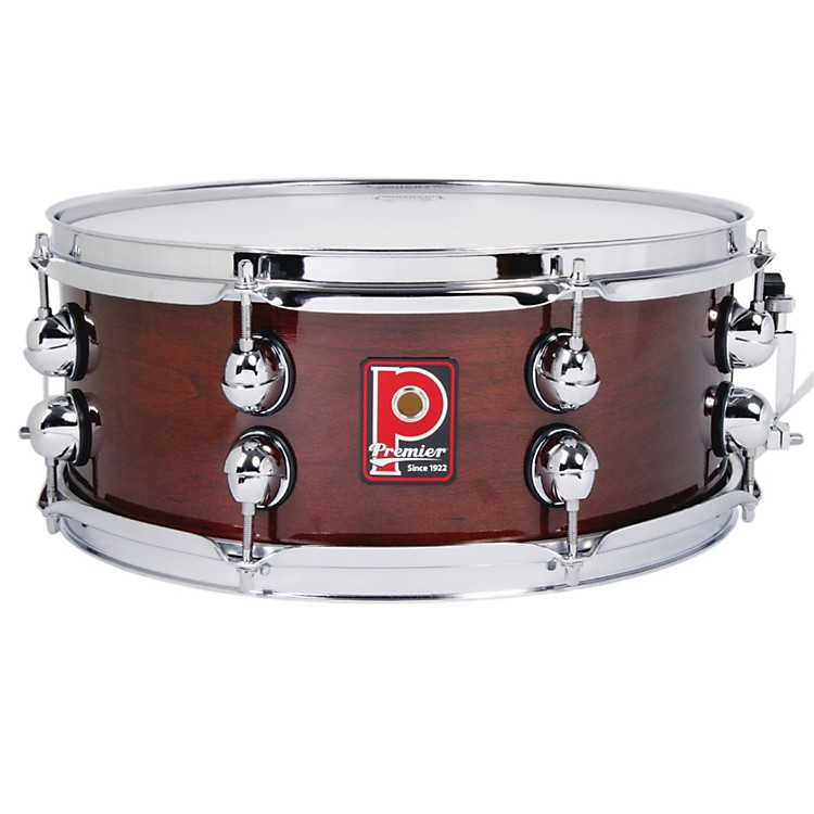 Premier Heritage Maple Snare Drum Dark Walnut Lacquer 14x5.5