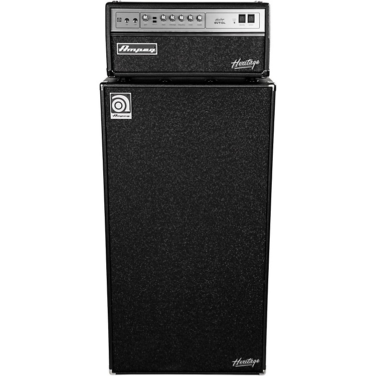 AmpegHeritage SVT-CL 300W Tube Bass Amp Head with 8x10 800W Bass Speaker Cab