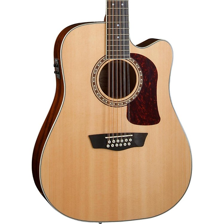 Washburn Heritage Series HD10SCE12 12-String Acoustic-Electric Cutaway Dreadnought Guitar Natural