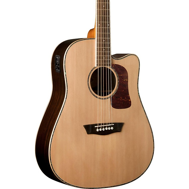 Washburn Heritage Series HD27SCE Abalone Rosette Acoustic-Electric Guitar Natural