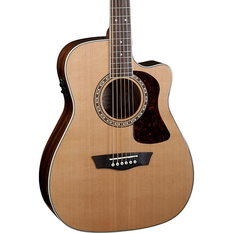 WashburnHeritage Series HF11SCE Acoustic-Electric Folk GuitarNatural