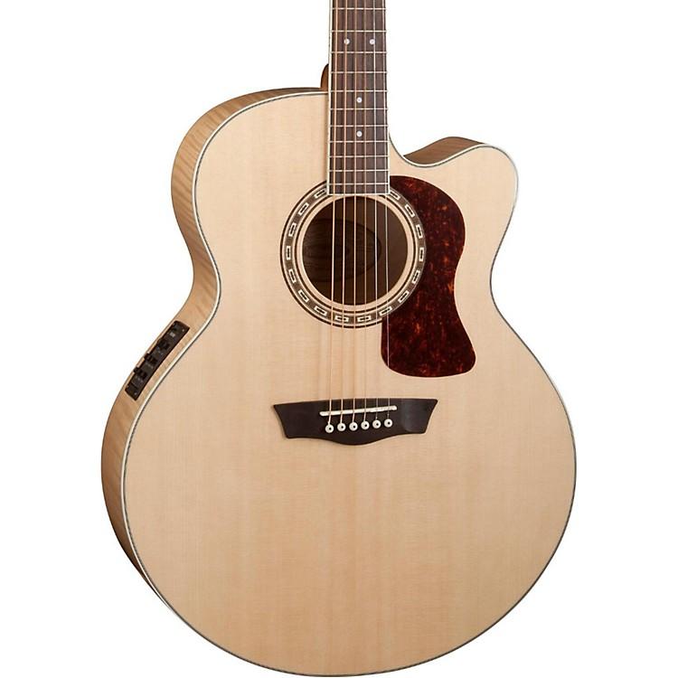 WashburnHeritage Series USM-HJ40SCE Jumbo Acoustic-Electric GuitarNatural