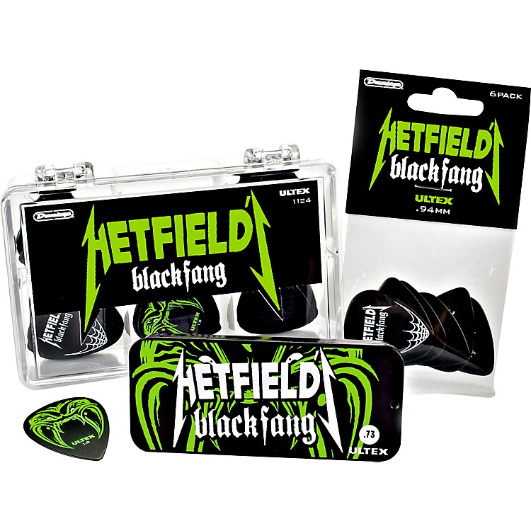 Dunlop Hetfield Black Fang Pick Tin - 6 Pack  .73mm