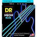 DR Strings Hi-Def NEON Blue Coated Lite 4-String Bass Strings (40-100)