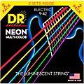 DR Strings Hi-Def NEON Multi-Color Light Electric Guitar Strings (9-42) 2 Pack