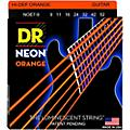 DR Strings Hi-Def NEON Orange Coated Lite 7-String Electric Guitar Strings (9-52)