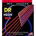 Hi-Def NEON Red Coated Lite Acoustic Guitar Strings (10-48)