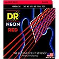 DR Strings Hi-Def NEON Red Coated Medium 6-String Bass Strings (30-125)