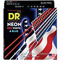 DR Strings Hi-Def NEON Red, White & Blue Electric Guitar Heavy Strings