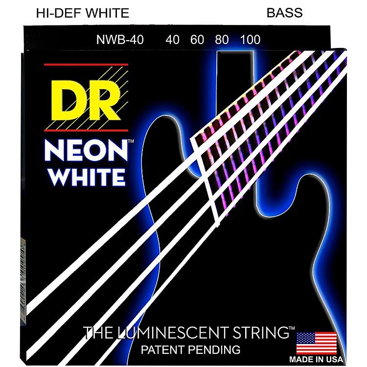 DR StringsHi-Def NEON White Coated 4-String Bass Strings Lite (40-100)