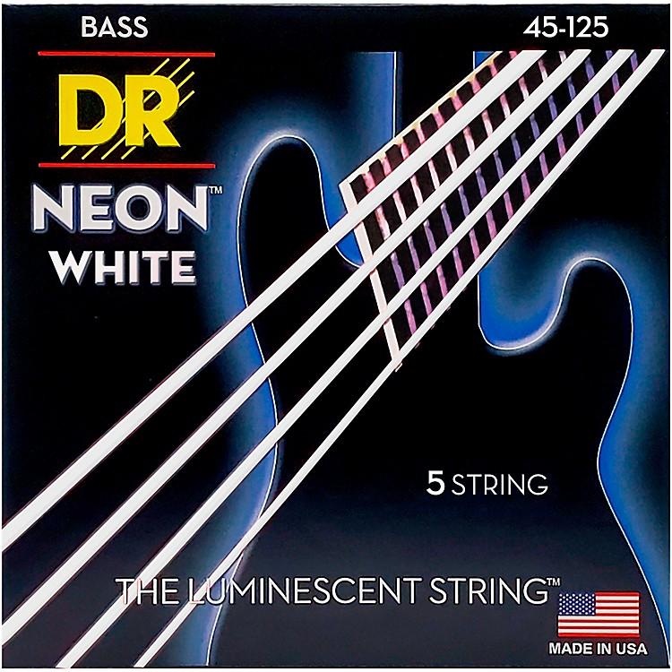 DR StringsHi-Def NEON White Coated Medium 5-String Bass Strings