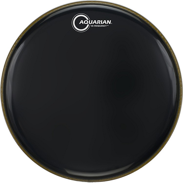 Aquarian Hi-Frequency Drumhead Black Black 12 in.