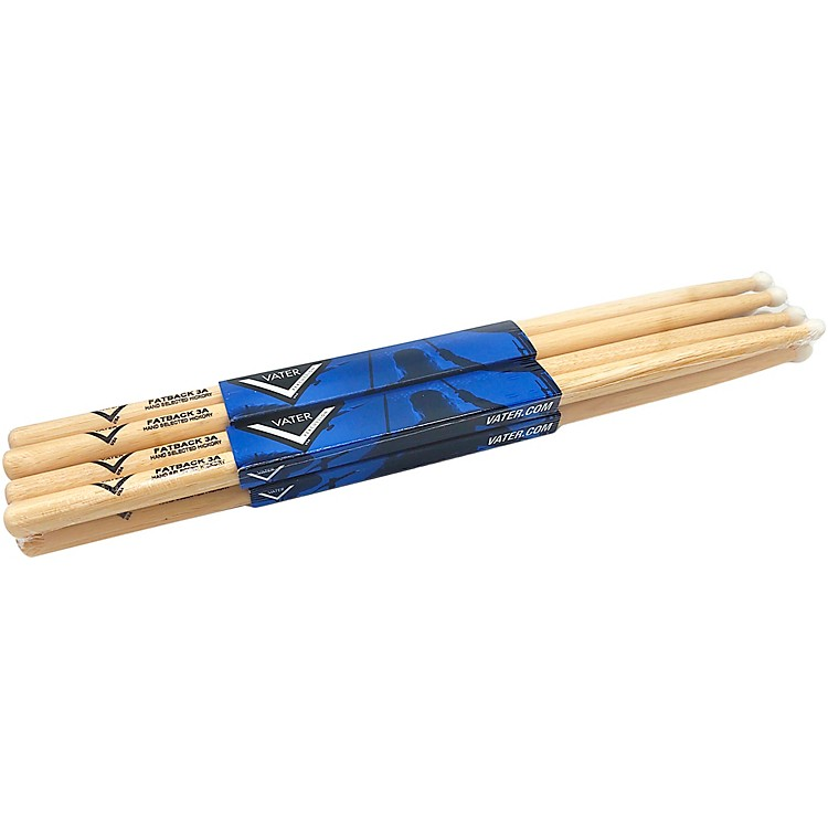 Vater Hickory Drum Stick Pre-pack Nylon 3A