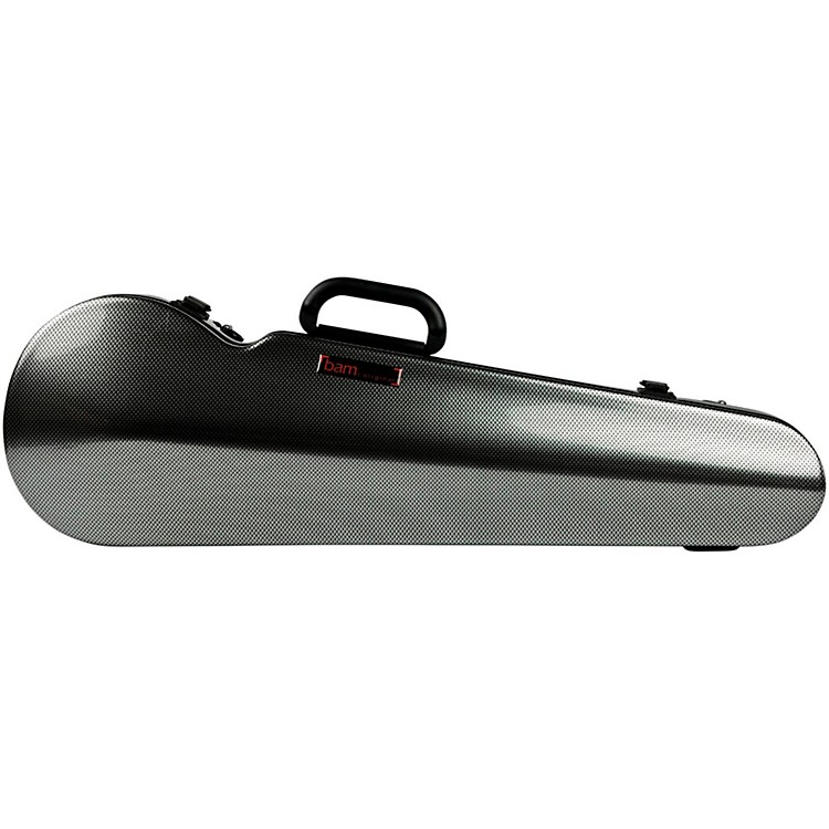 Bam High Tech Contoured Violin Case Silver Carbon
