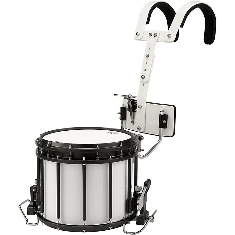 Sound Percussion Labs High-Tension Marching Snare Drum with Carrier 13 x 11 in. White