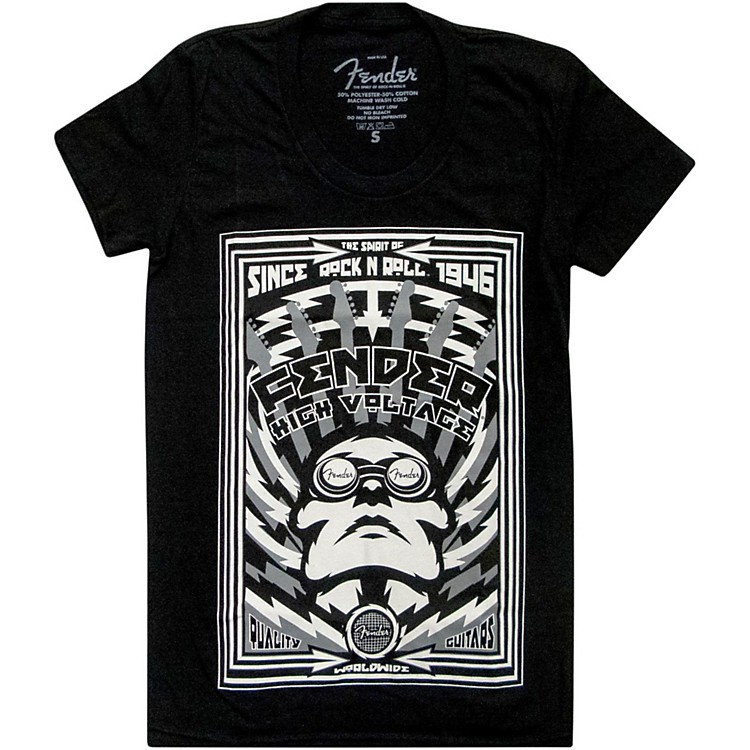 Fender High Voltage Ladies T-Shirt Black Extra-Large