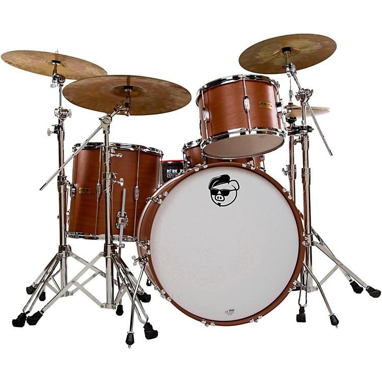 Pork Pie Hip Pig 3-Piece Rock Shell Pack Exotic Eastern Mahogany Satin Natural