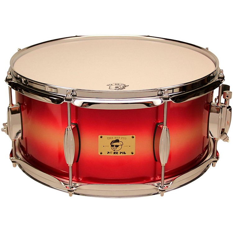 Pork PieHip Pig Eastern Mahogany Snare Drum14 x 6.5 in.Red/Gold Duco Finish