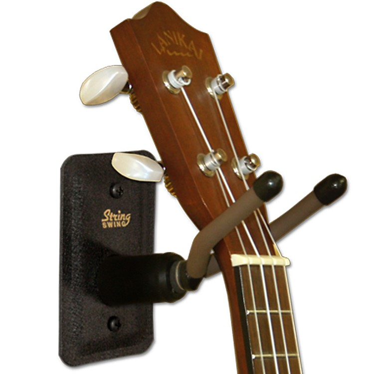 String Swing Home & Studio Ukulele/Mandolin Hanger Black Metal