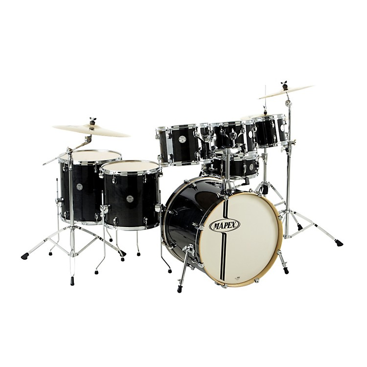 Mapex Horizon Birch/ Basswood Lacquer 7-Piece Drumset with Hardware Midnight Black