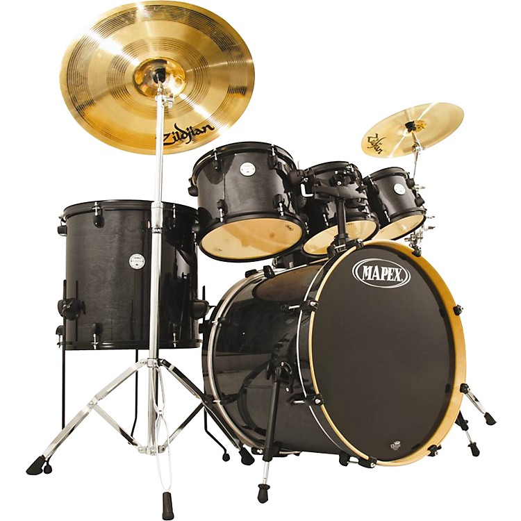 Mapex Horizon HZB 5-Piece Drum Set Transparent Midnight Black