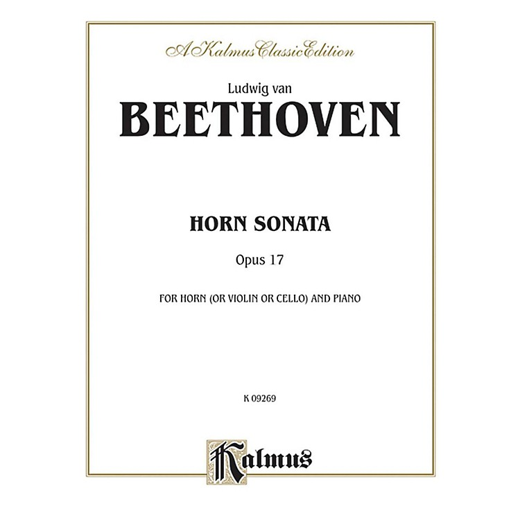 AlfredHorn Sonata Op. 17 for French Horn By Ludwig van Beethoven Book