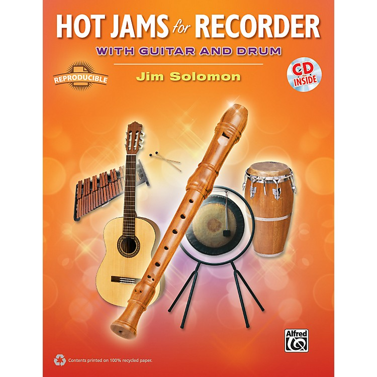AlfredHot Jams for Recorder (Book/CD)