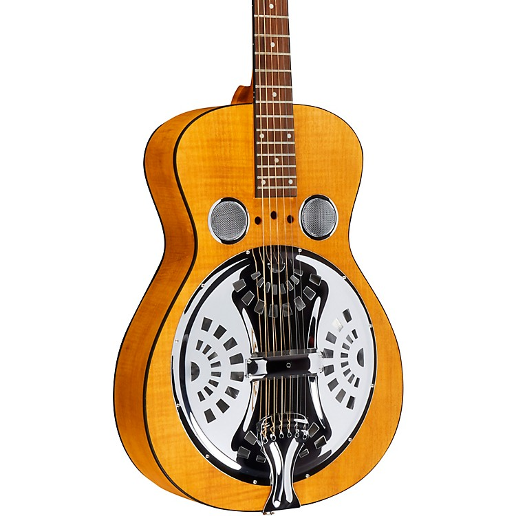 Dobro Hound Dog Acoustic Deluxe Round Neck Dobro Guitar Vintage Brown