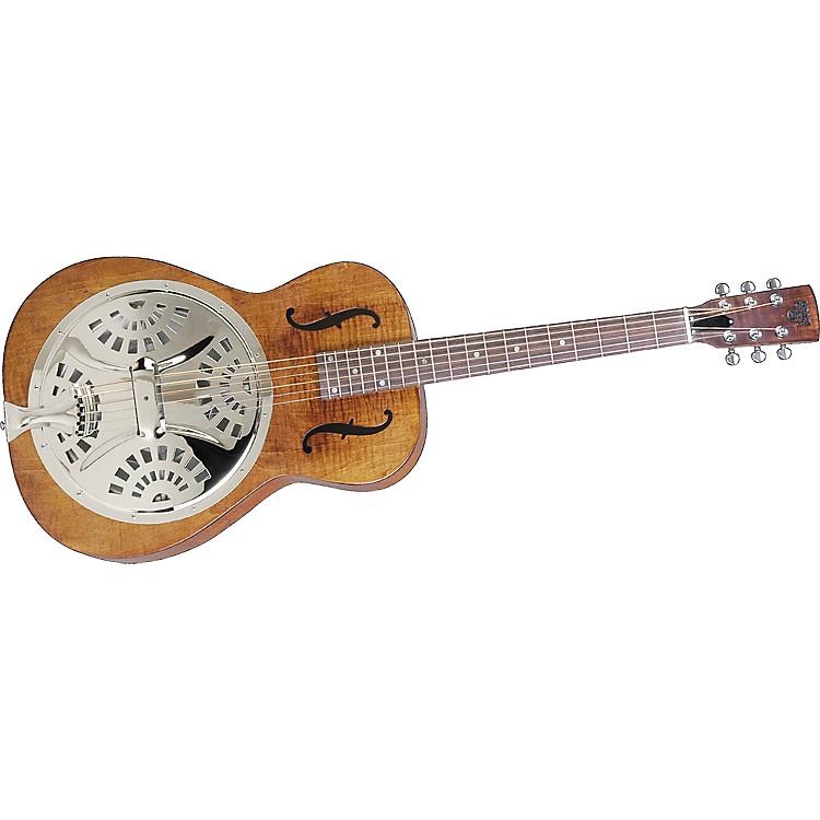 DobroHound Dog Resophonic GuitarTransparent BrownRoundneck