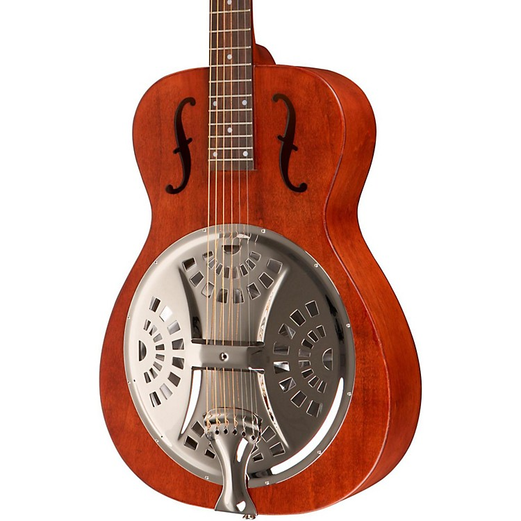 Dobro Hound Dog Round Neck Dobro Guitar Vintage Brown