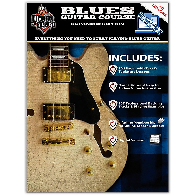 Rock House House Of Blues - Blues Guitar Course Expanded Edition Book/2-DVD Set