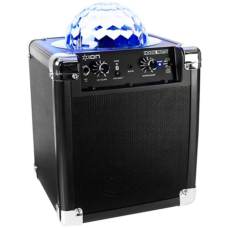 ION House Party Wireless Speaker with Built-in Light Show Black