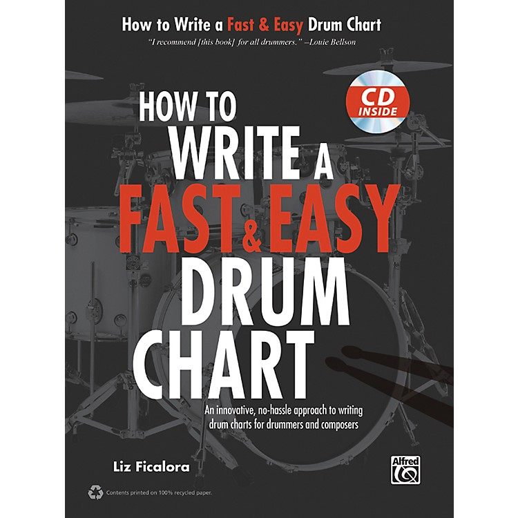 AlfredHow to Write a Fast & Easy Drum Chart (Book/CD)