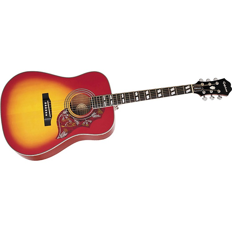Epiphone Hummingbird Acoustic Guitar Heritage Cherry Sunburst Chrome Hardware