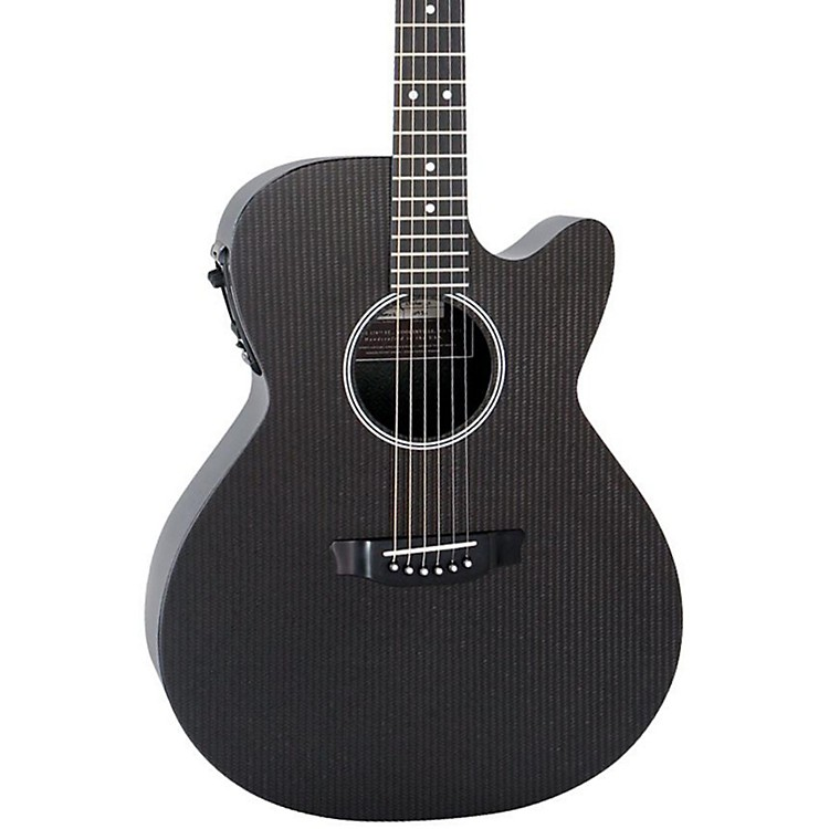 RainSong Hybrid Series H-WS1000N2 Deep Body Cutaway Acoustic-Electric Guitar Black
