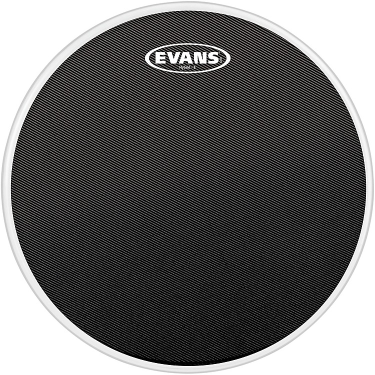 Evans Hybrid-Soft Marching Snare Drum Batter Head Black 14 in.