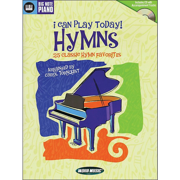 Word MusicI Can Play Today (Hymns) Book/CD arranged for easy piano
